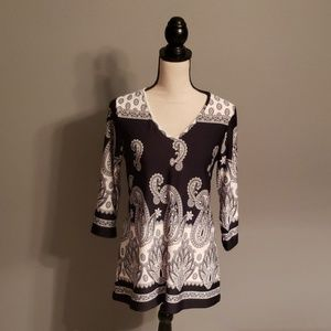 Melissa Paige Tunic Top Size Small